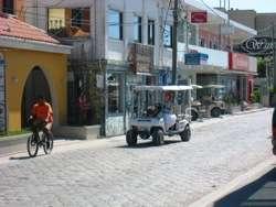 San Pedro Town Macarena on the Golf Cart