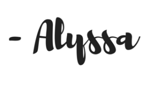 Copy of signature - Alyssa