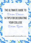 Tips For Decorating Your College Dorm Room