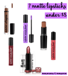 7 matte lipsticks under $8