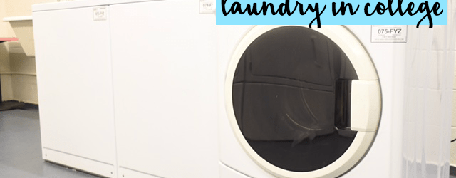how to do laundry in college