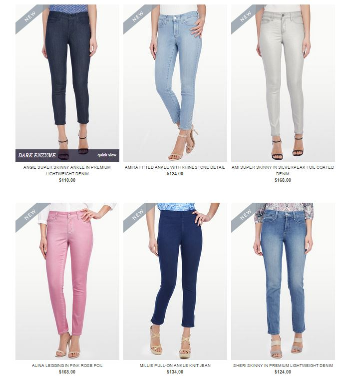 Coloured Denim from NYDJ - Macarons and Mischief