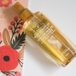 Completing my post shower routine with Jergens Shea Beauty Oil!