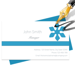 Blue Penguin Business Card Designer 2.61