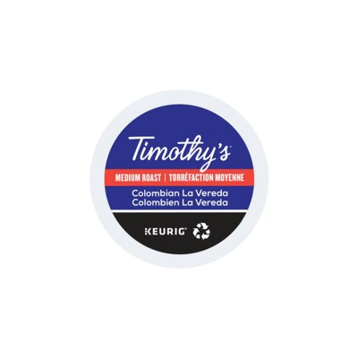 Timothys Colombian La Vareda K-cups 24/box