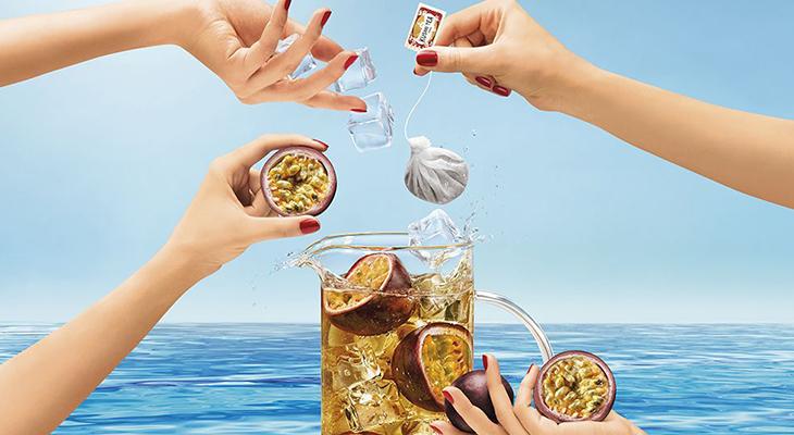 Making Ice Tea With Kusmi Tea Bags