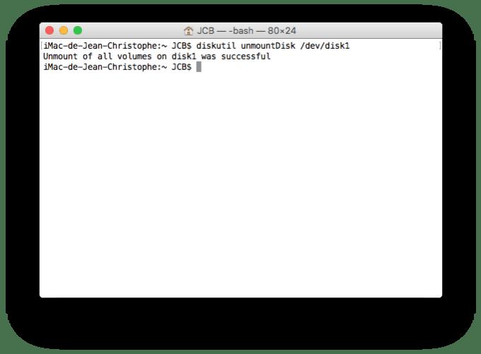 Dual boot Mac OS X El Capitan ejecter la cle usb