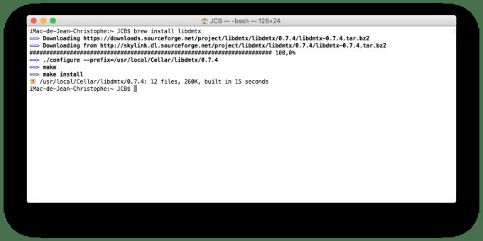 QR Code sur Mac libdmtx