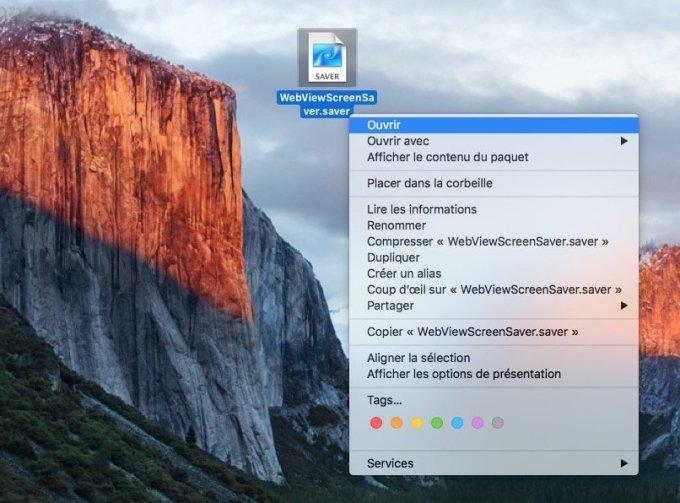 utiliser un site web en ecran de veille sur mac os x WebViewScreenSaver