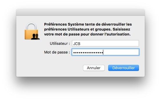 ouvrir son mac sans mot de passe deverrouiller