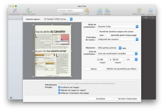 scanner sur mac ocr