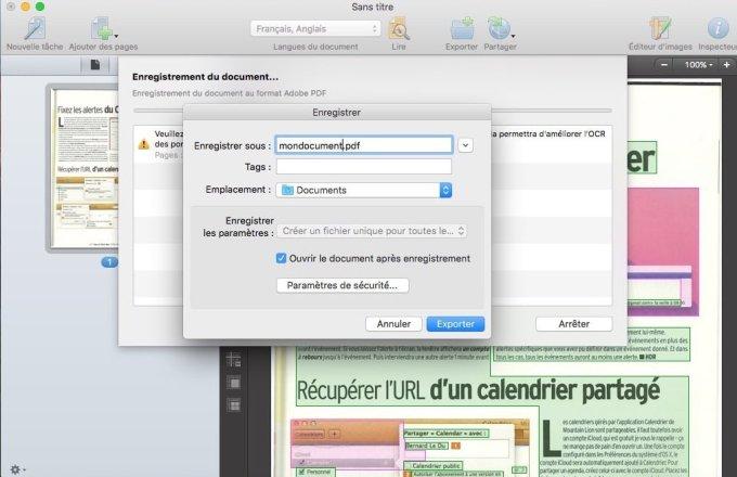 scanner sur mac pdf