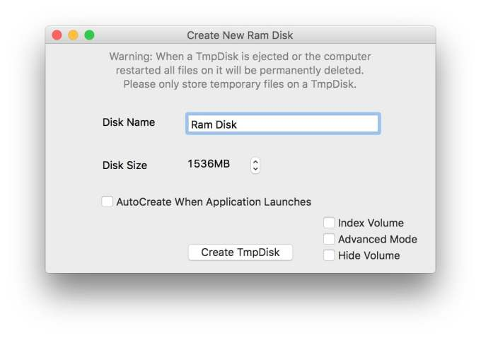 ram disk sur mac tmpdisk