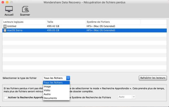 Recuperer des donnees effacees sur mac choisir disque