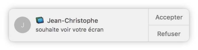inviter a partager mon ecran mac