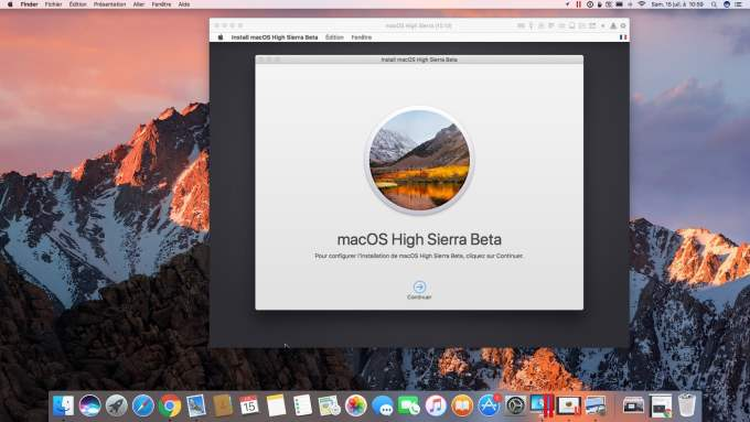 installer macOS High Sierra beta avec Parallels Desktop