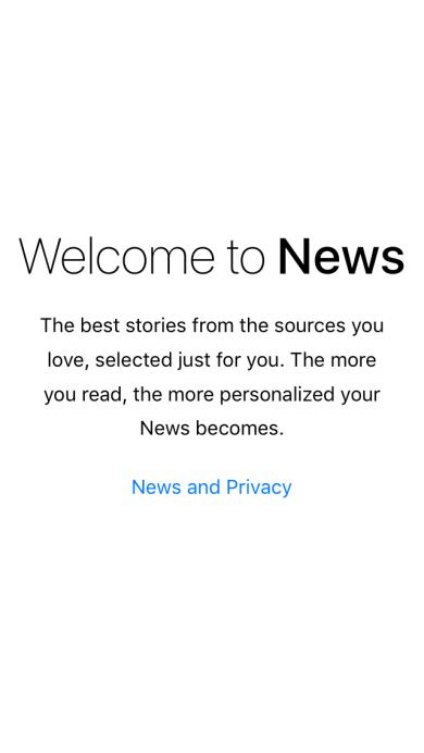 Welcome to News - Applicazione News di iOS 9
