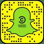 Inquadra questo codice da SnapChat per aggiungere Comedy Central ai tuoi contatti