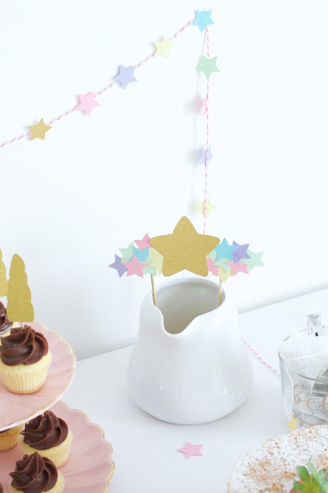 Cake Topper Tea Party