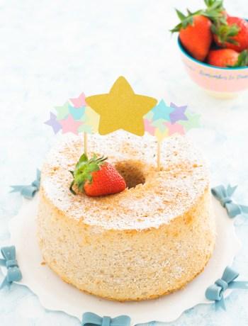 chiffon cake fragole