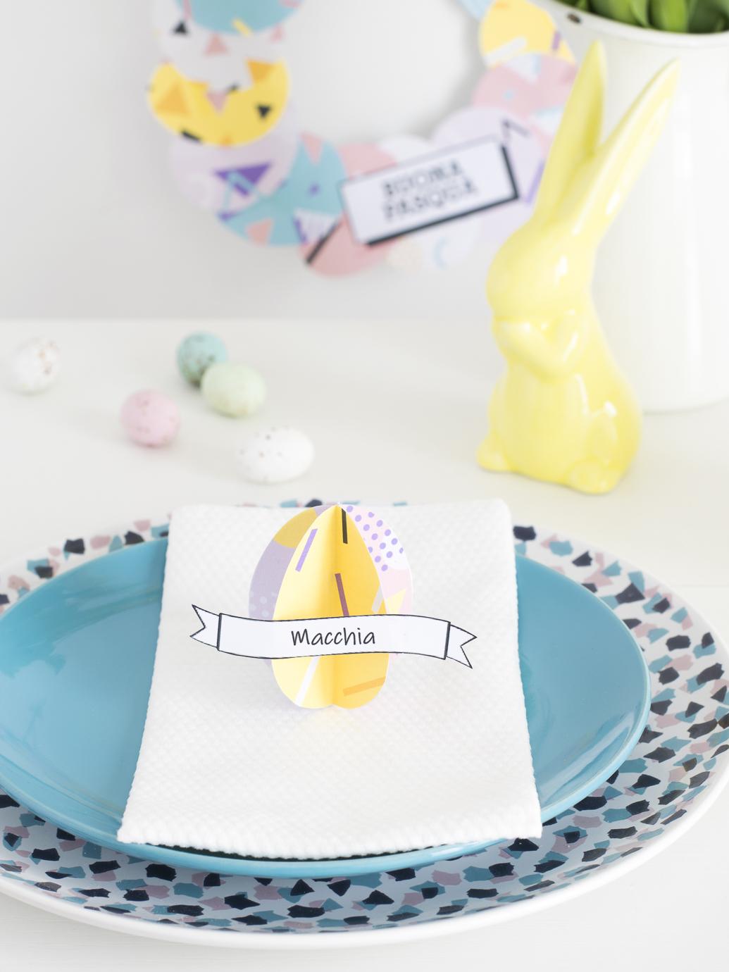 Segnaposto Con Nome Da Stampare segnaposto per la tavola pasqua: uova colorate fai da te