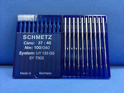 Confezione da 10 aghi industriali sistema UY 133 GS Nm 100