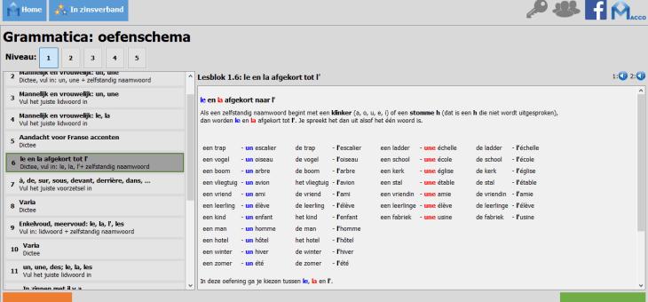 UPDATE: Macco Frans nu ook met uitgebreide uitleg en oefening van de grammatica!