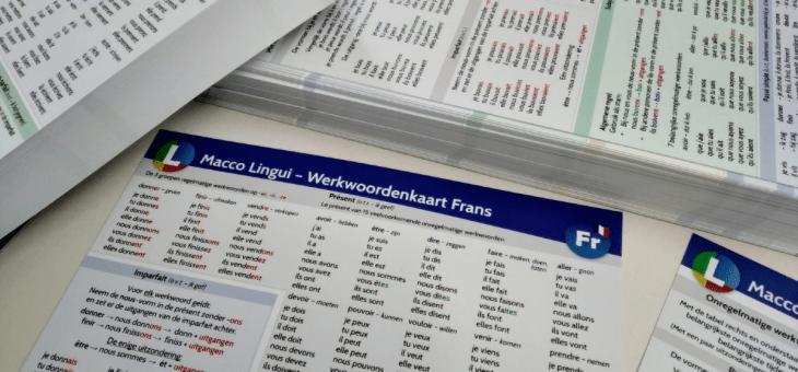 Vers van de pers: Werkwoordenkaart Frans!