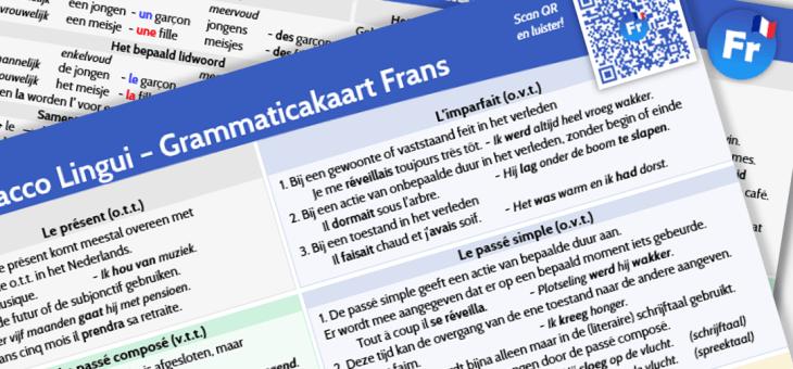 Vers van de pers: Grammaticakaart Frans!