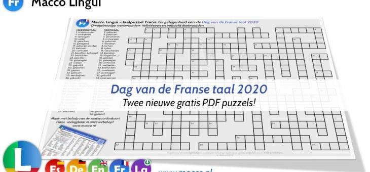 Dag van de Franse taal 2020!