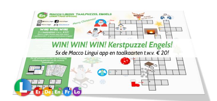 WIN! WIN! WIN! Kerstpuzzel Engels!