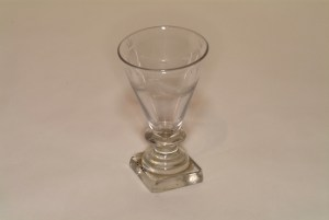 Flint Wine Glass, Macculloch Hall Historical Museum's Decorative Arts Collections