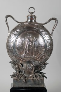 Macculloch Hall Historical Museum Decorative Arts Collections: Thomas Nast Army and Navy Testimonial Canteen