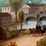 Speedwell Village and Iron Works (detail2)_Edward Kranich_c.1855_Oil on Canvas Collection of MHHM Archives / Thank you to our Supporters
