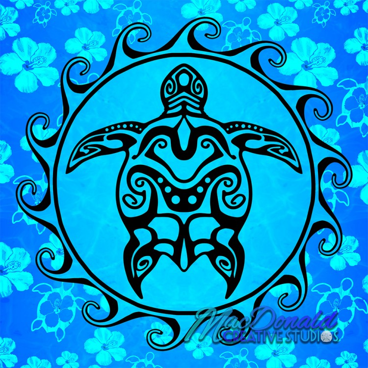 Tribal Hawaiian Sea Turtle