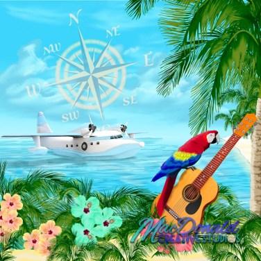Digital tropical art for portfolio.