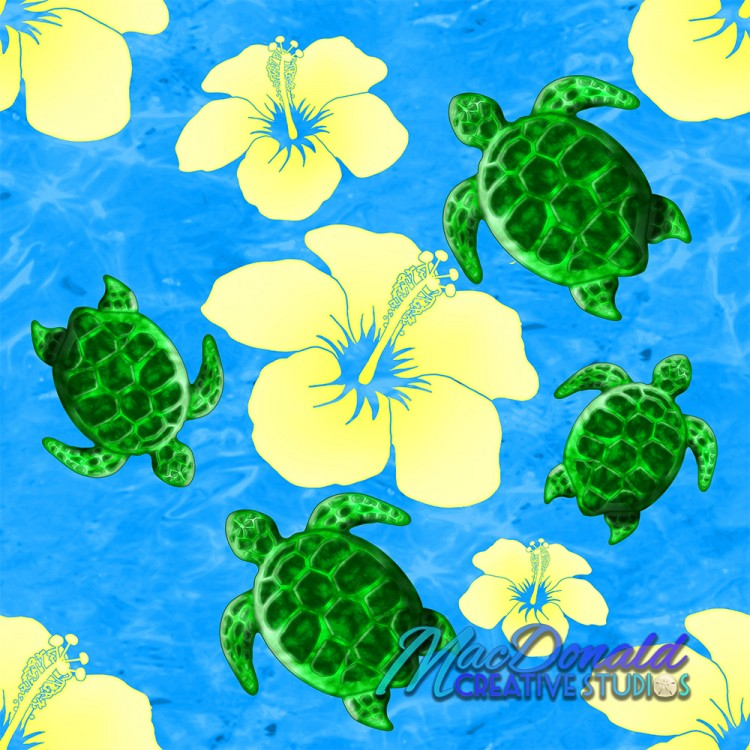 Green Sea Turtles Pattern