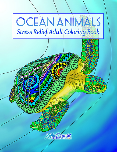 Ocean Animals Stress Relief Adult Coloring Book