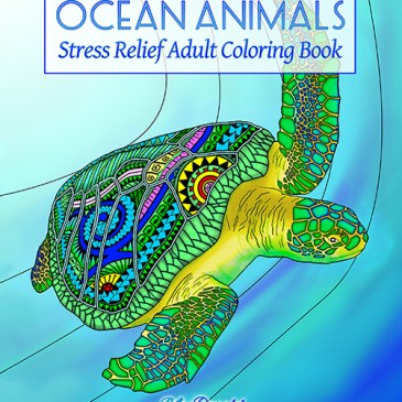 Ocean Animals: Stress Relief Adult Coloring Book Now Available