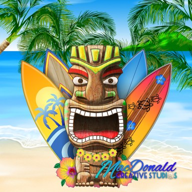 Hawaiian Surfing Tiki