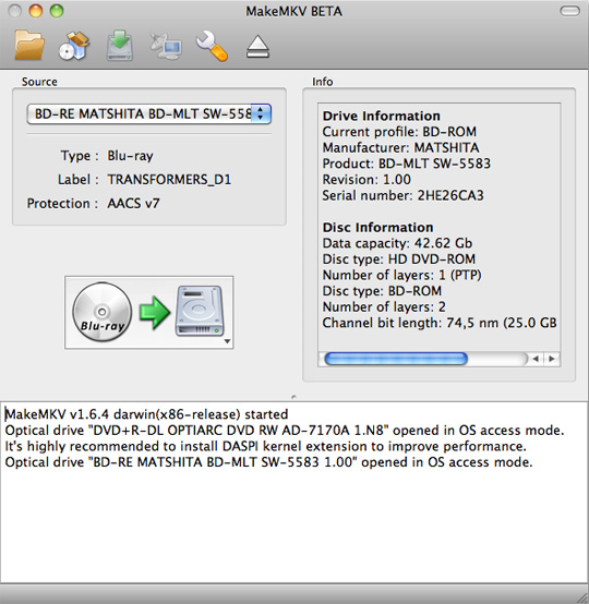 How To: Rip a Blu-Ray movie on the Mac