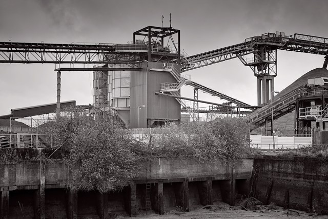 Grim industrial landscape between Greenwich and the Thames Barrier. Photo George James.