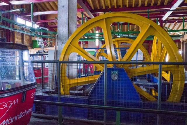 Winding gear at the Männlichen Gondolbahn (an example ofISO 12500)