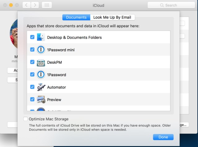 Go to System Preferences, choose iCloud and then click on iCloud Drive options. See the tick box at the bottom of the frame — Optimize Mac Storage. I recommend you always leave this unticked unless you are fully aware of the potential dangers