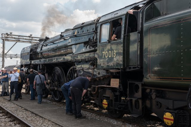 A close inspection of 70013 Britannia Class Oliver Cromwell