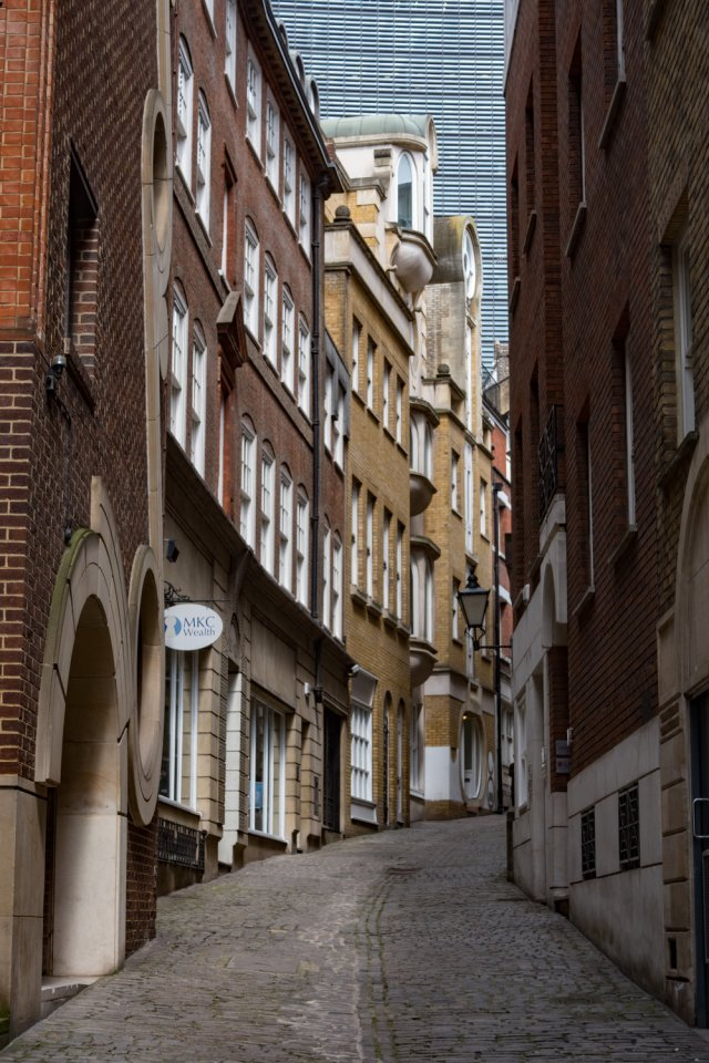 Old meets new in the City of London. The