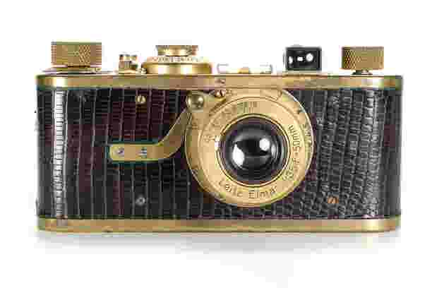 With a starting price of €150,000, this gold-plated Leica IA Luxus is one of only 95 examples made between 1929 and 1931.