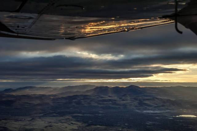 Early Morning Take off from Stead Airport, Reno – Heading to Yosemite National Park