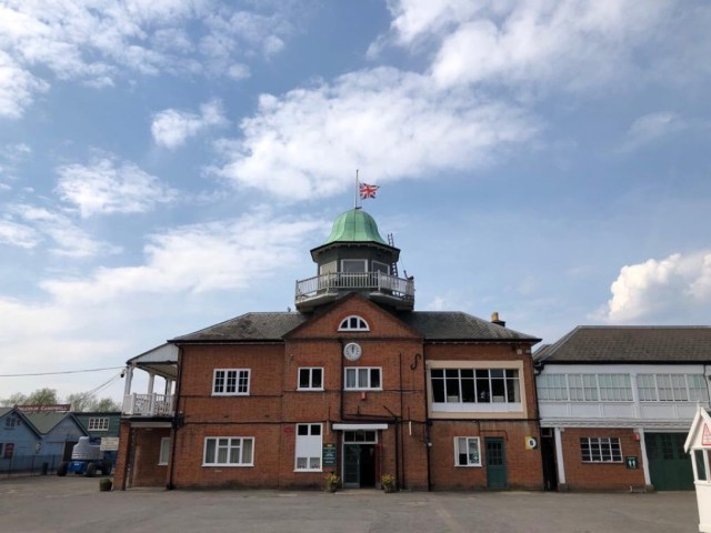 Sir Stirling was a the founding president of the Brooklands Museum. The flag flies today, Easter Monday, at the iconic clubhouse in surrey (Photo Brooklands Museum Trust)