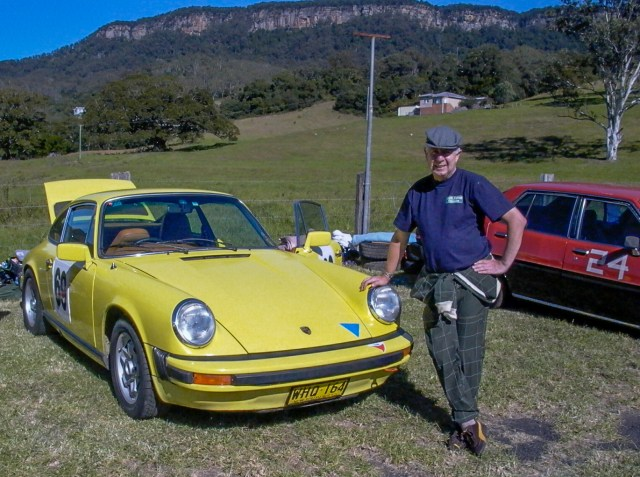 Team Yellow Porsche official merchandise as worn by the team driver. Dapto Hillclimb 2007
